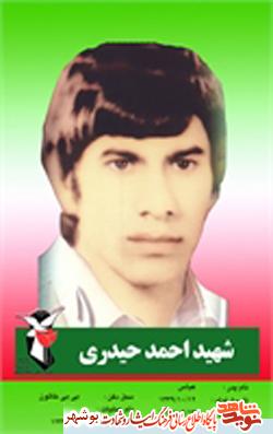 زندگینامه شهید انقلاب احمد حیدری